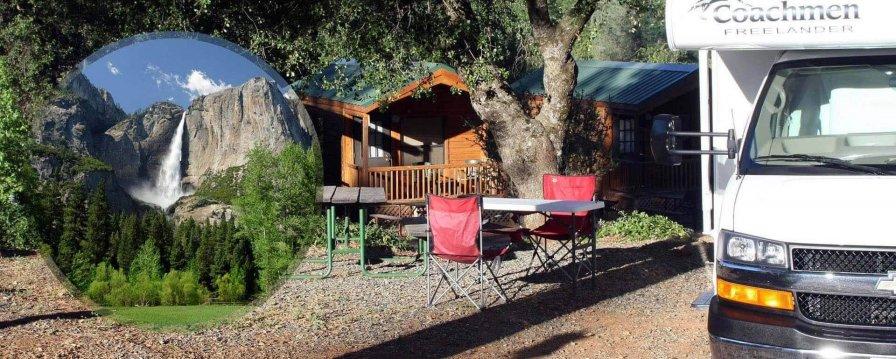 Yosemite National Park CampGround - Cabins - RV Sites